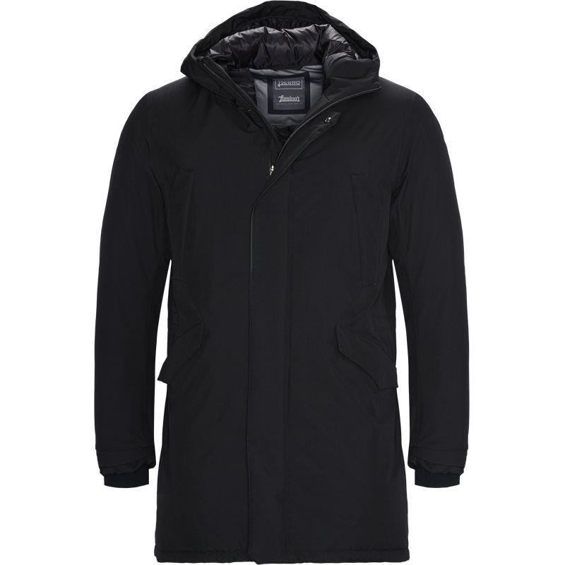 Herno regular fit pi100ul 11121 jakker black fra herno på axel.dk