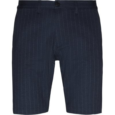 Jason Chino Pinstripe Shorts Regular | Jason Chino Pinstripe Shorts | Blå