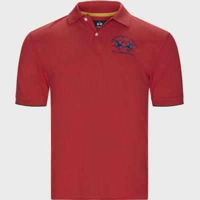 S/S Piquet Stretch Polo T-Shirt Regular | S/S Piquet Stretch Polo T-Shirt | Rød
