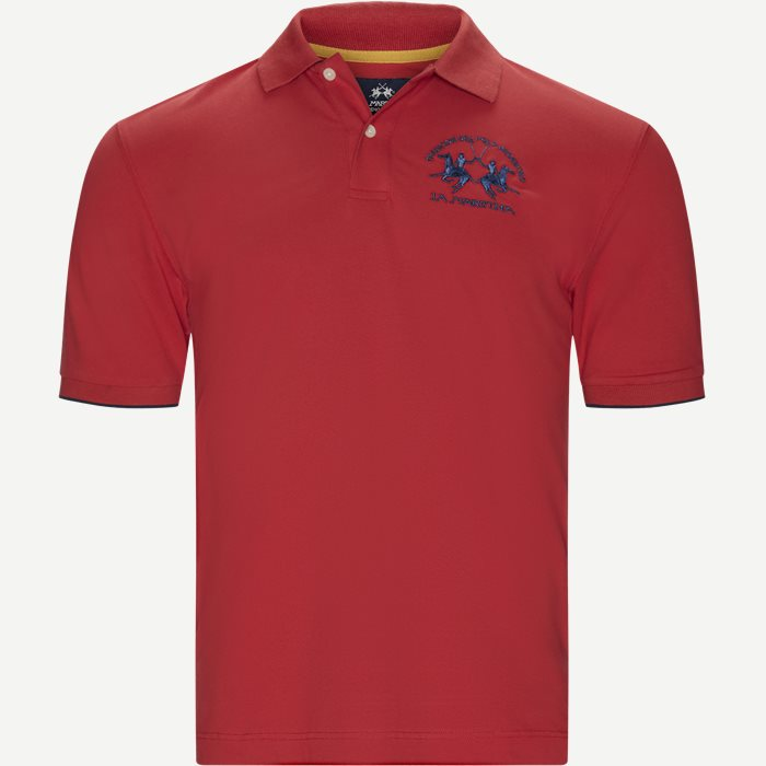 S/S Piquet Stretch Polo T-Shirt - T-shirts - Regular - Rød