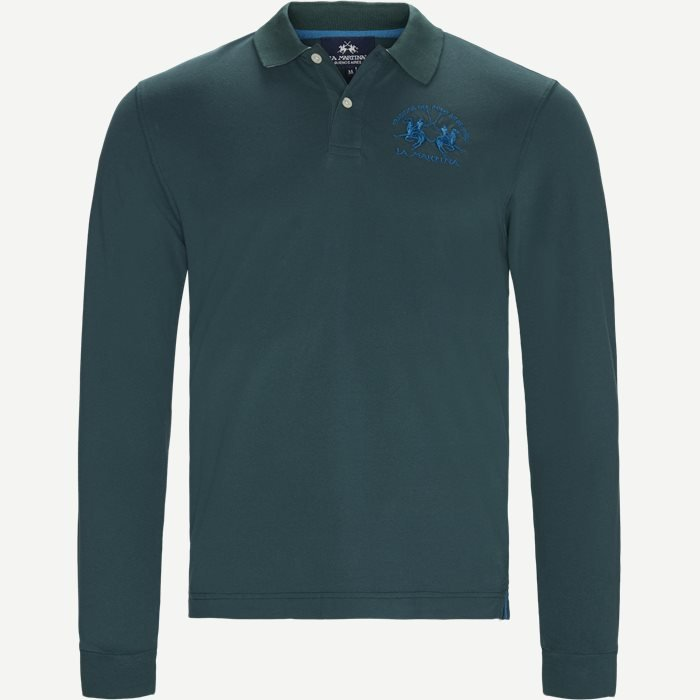L/S Piquet Stretch Polo T-shirt - T-shirts - Regular - Grøn