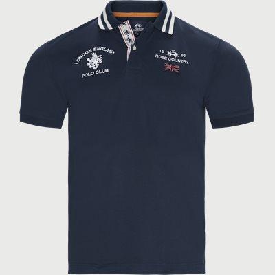 S/S Piquet Stretch Polo T-Shirt Slim | S/S Piquet Stretch Polo T-Shirt | Blå