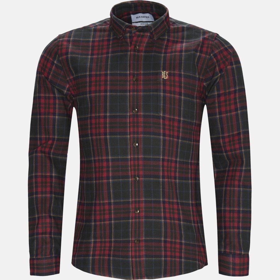 FLANNEL SHIRT - Shirts - Regular - RED - 1