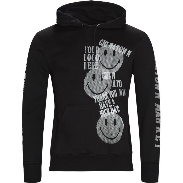 Print Gun Hoodie - Sweatshirts - Regular - Sort