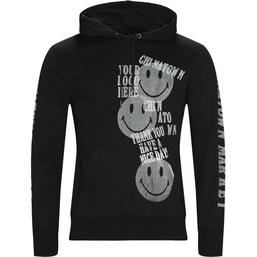 PRINT GUN HOODIE - Sweatshirts - SORT - 1