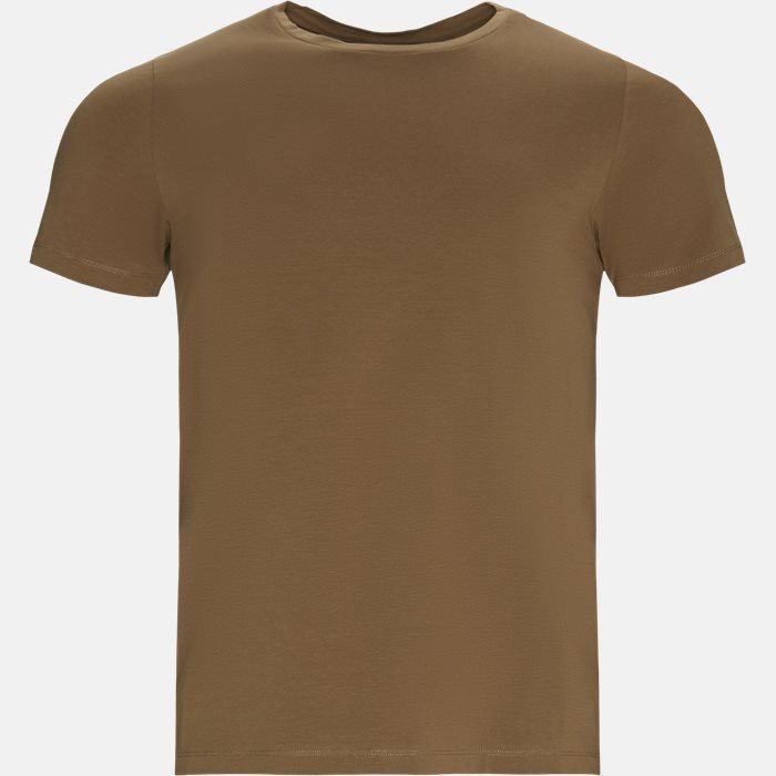 T-shirts - Regular fit - Brun