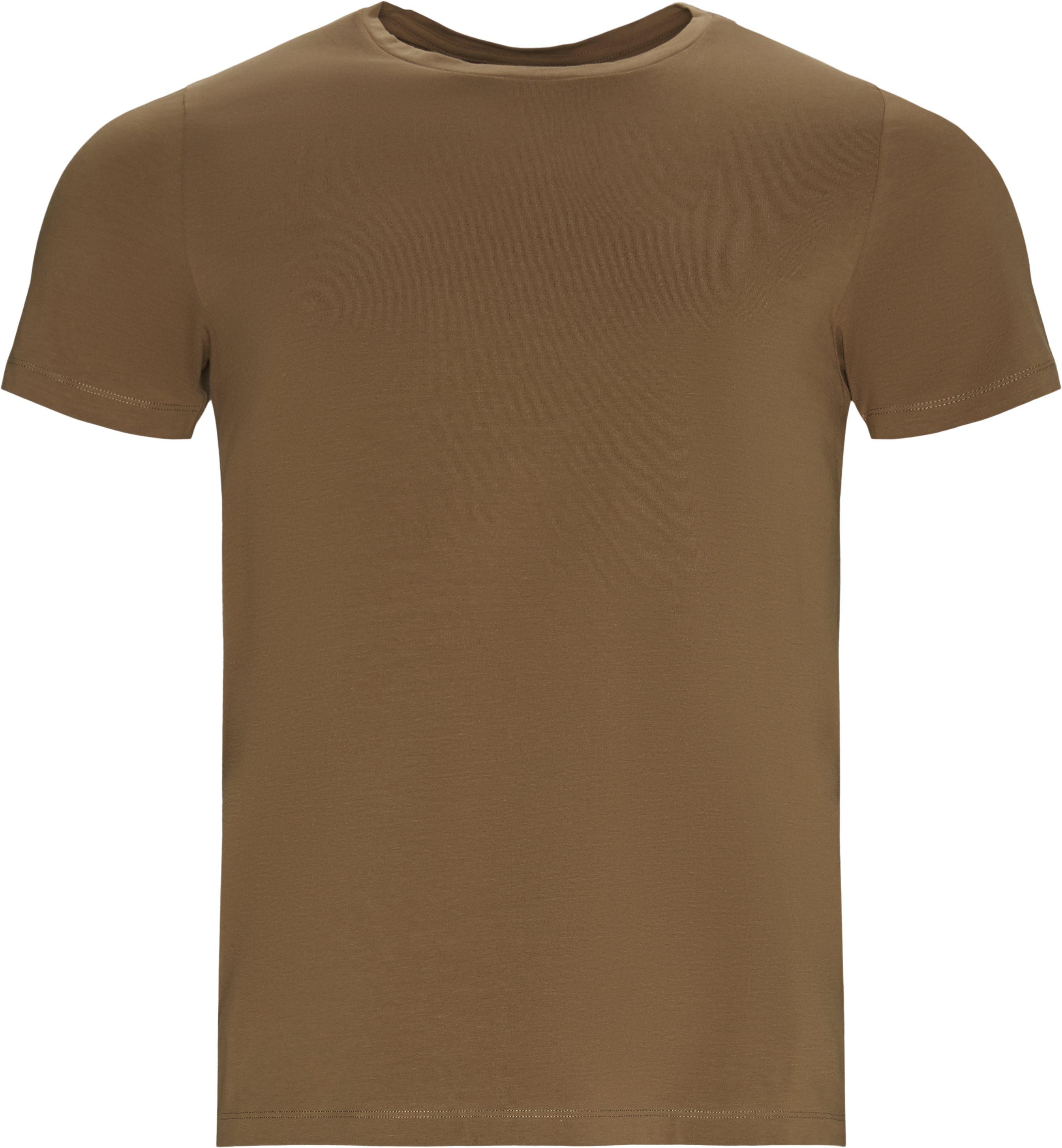T-shirts - Regular fit - Brown