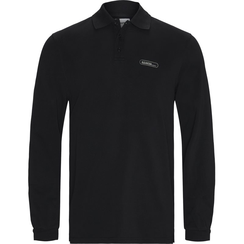 Image of BLS Regular fit POLO PIQUE LONG SLEEVE T-shirts Black