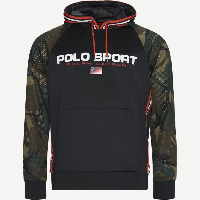 Polo Sport Camo Hoodie - Sweatshirts - Regular - Sort