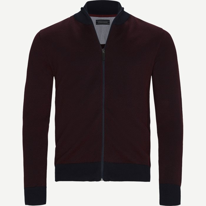 Cologne Cardigan - Strik - Regular - Rød