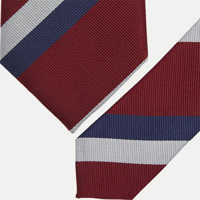 Deep Red Striped Slips