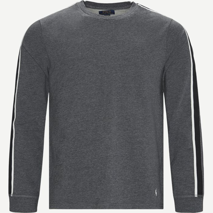 Long Sleeved Stretch Tee - T-shirts - Regular - Grå