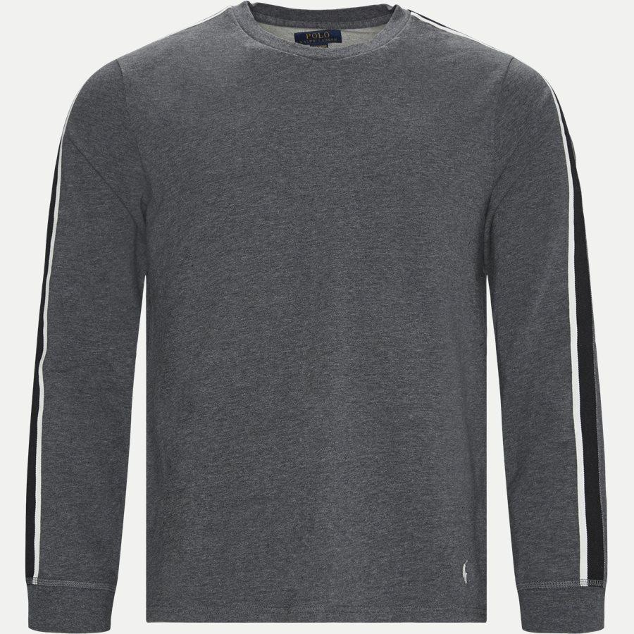 714780225 - Long Sleeved Stretch Tee - T-shirts - Regular - GRÅ - 1