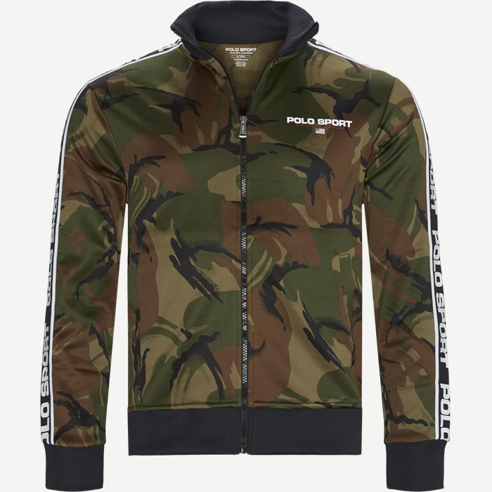 Polo Sport Camo Zip Sweatshirt - Sweatshirts - Regular - Army