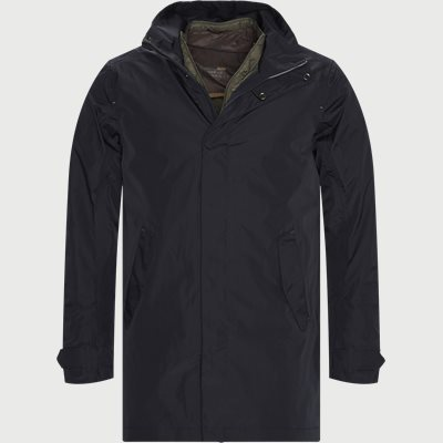 Rick Rainproof Tech Coat Regular | Rick Rainproof Tech Coat | Blå