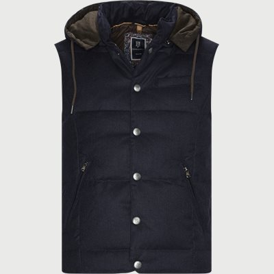 LT Down Wool Vest Regular | LT Down Wool Vest | Blå