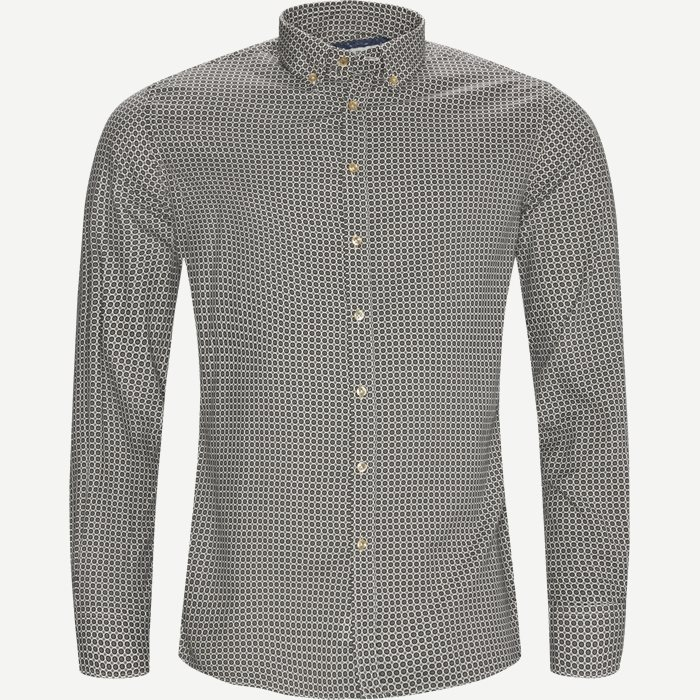 Shirt 60´s Print - Skjorter - Casual fit - Brun