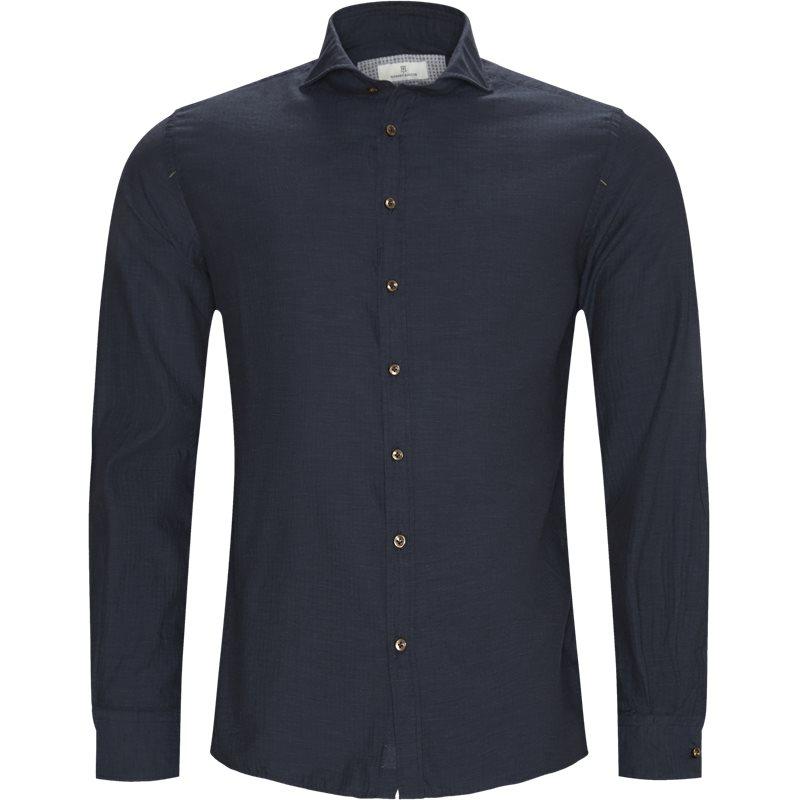 hansen & jacob Hansen & jacob - shirt solid melange flanel fra kaufmann.dk