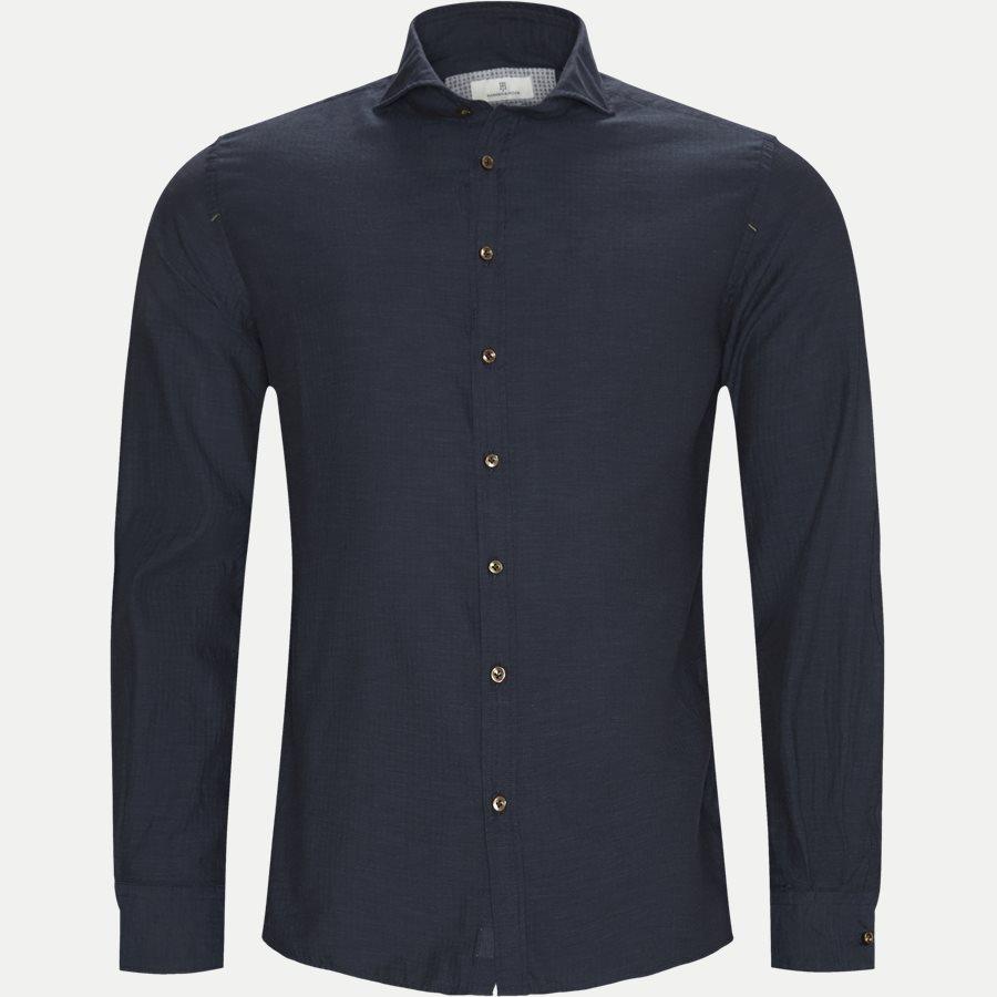 04947 SOLID MELANGE FLANEL - Shirt Solid Melange Flanel - Skjorter - Casual fit - NAVY - 1
