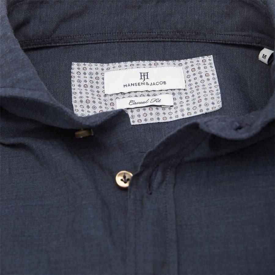 04947 SOLID MELANGE FLANEL - Shirt Solid Melange Flanel - Skjorter - Casual fit - NAVY - 3