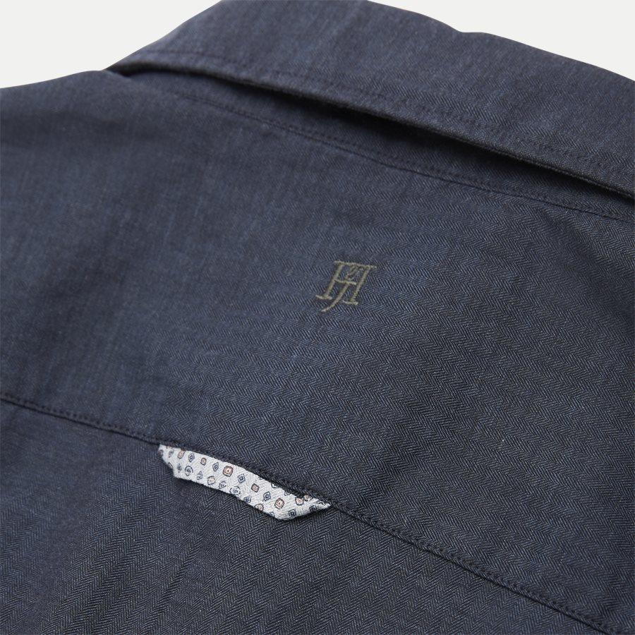 04947 SOLID MELANGE FLANEL - Shirt Solid Melange Flanel - Skjorter - Casual fit - NAVY - 4