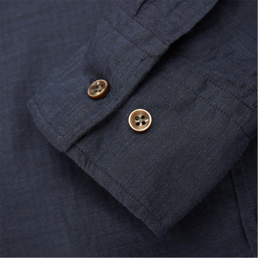 04947 SOLID MELANGE FLANEL - Shirt Solid Melange Flanel - Skjorter - Casual fit - NAVY - 5