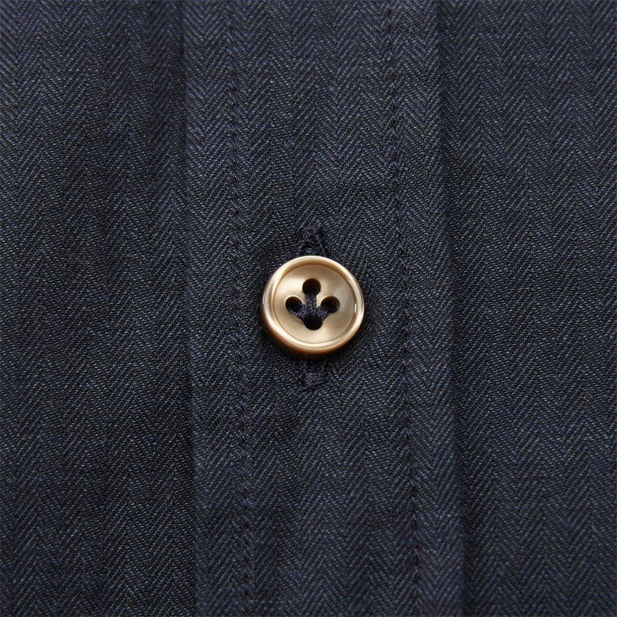 04947 SOLID MELANGE FLANEL - Shirt Solid Melange Flanel - Skjorter - Casual fit - NAVY - 7