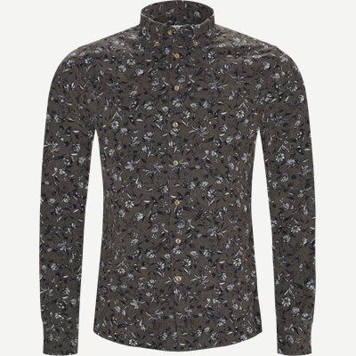Shirt Velvet print Casual fit | Shirt Velvet print | Grå