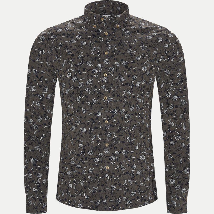04936 VELVET PRINT - Shirt Velvet print - Skjorter - Casual fit - GRÅ - 1