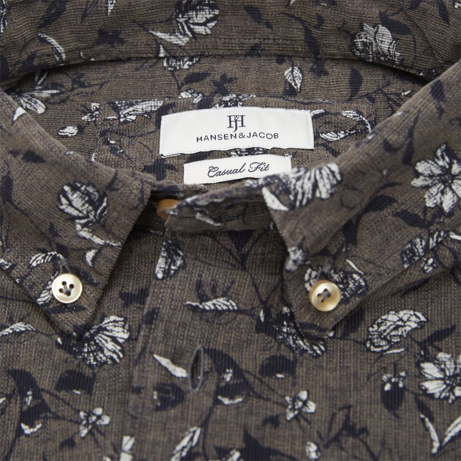 04936 VELVET PRINT - Shirt Velvet print - Skjorter - Casual fit - GRÅ - 5