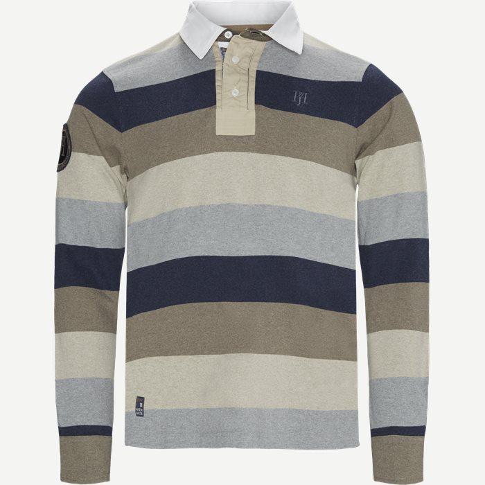 Multi Block Stripe Rugger - Skjorter - Blå