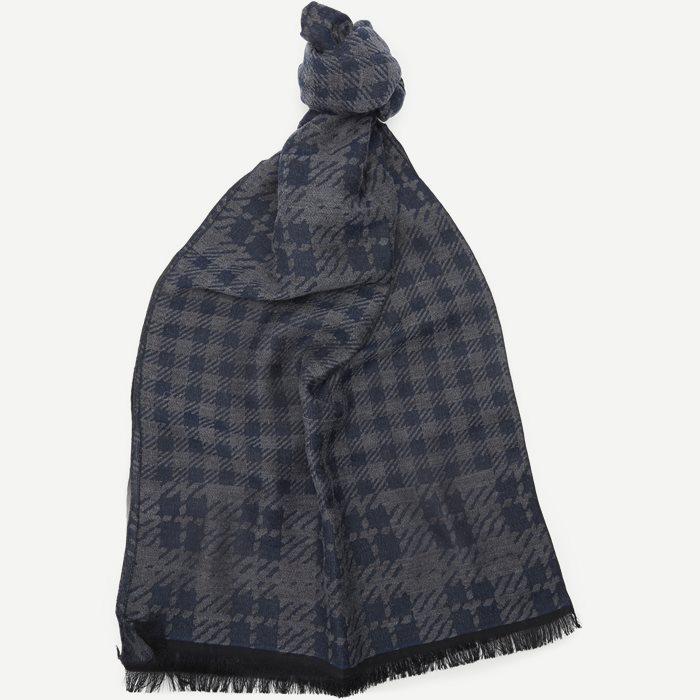 Houndstooth Scarf - Tørklæder - Blå