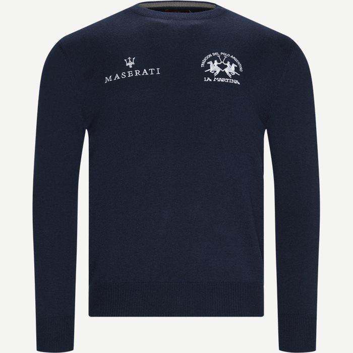 Man Triot Crew Neck Knit - Strik - Regular - Blå