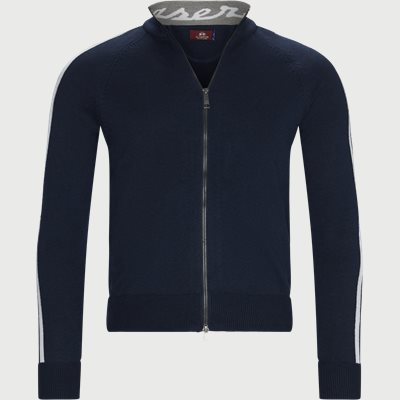 Man Triot Full Zip Cardigan Regular | Man Triot Full Zip Cardigan | Blå