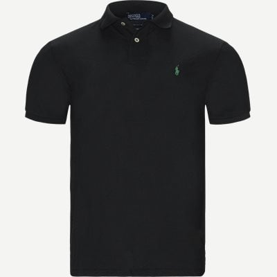 Custom Slim Fit Polo T-shirt Regular slim fit | Custom Slim Fit Polo T-shirt | Sort