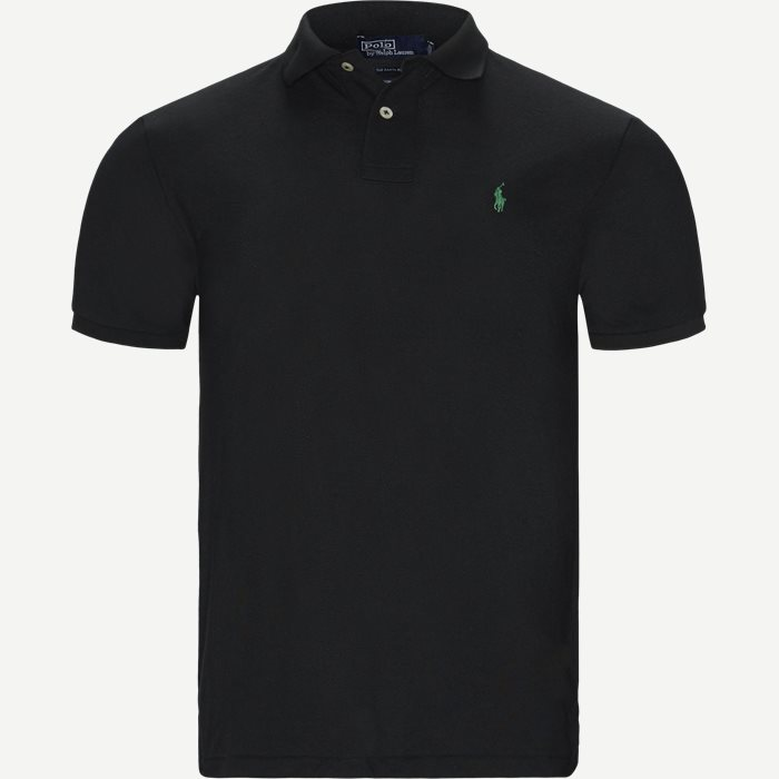 Polo T-shirt - T-shirts - Regular slim fit - Sort