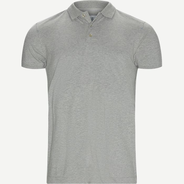 Pique Stretch Polo - T-shirts - Modern fit - Grå