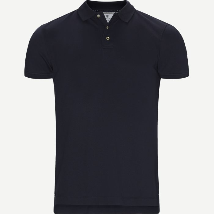 Pique Stretch Polo - T-shirts - Modern fit - Blå