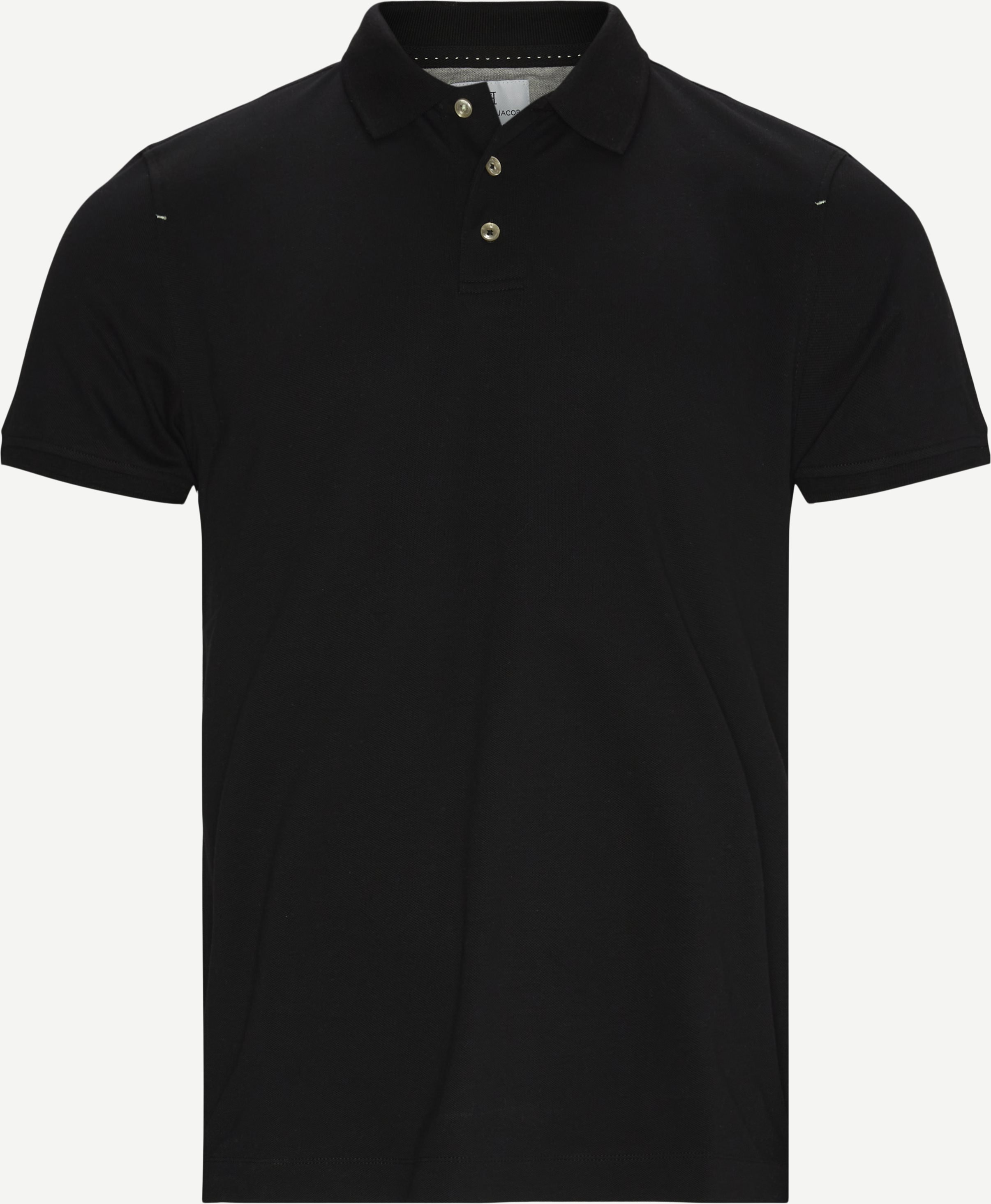 Pique Stretch Polo - T-shirts - Modern fit - Sort