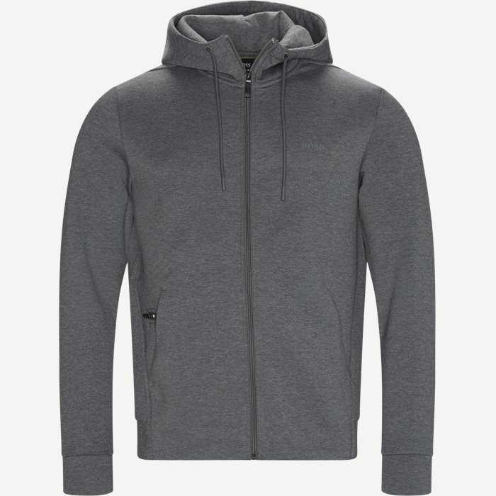 Saggy X Zip Sweatshirt - Sweatshirts - Regular - Grå