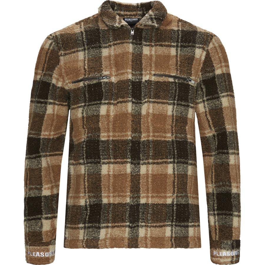 SHERBERT ZIP OVERSHIRT  - Jackets - Regular - BRUN - 1