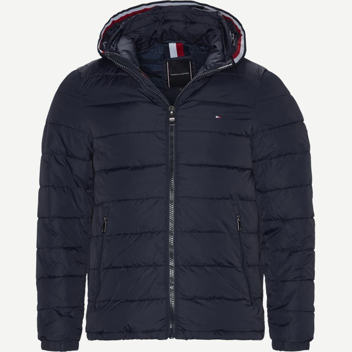 Quiltet Hooded Jacket - Jakker - Regular - Blå