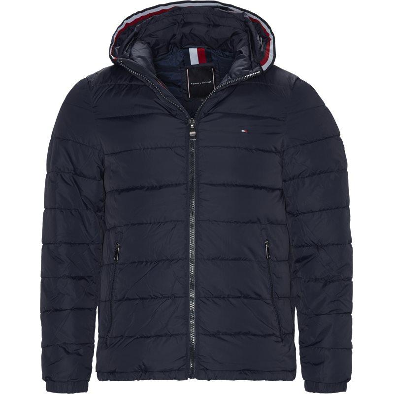 tommy hilfiger Tommy hilfiger - quiltet hooded jacket på kaufmann.dk
