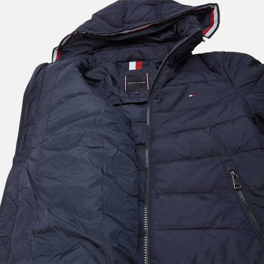 12218 QUILTED HOODED JACKET - Jackets - Regular - NAVY - 8