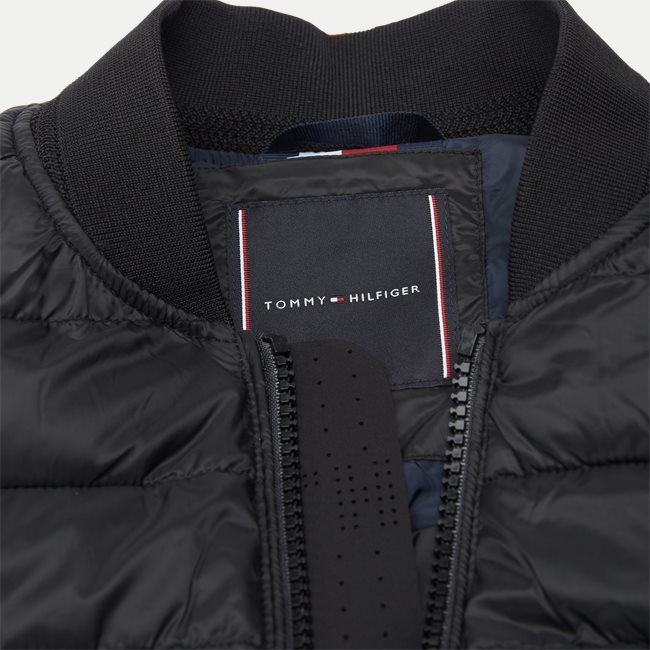 Mixed Media Bomber Jacket