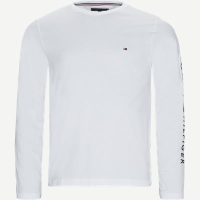Tommy Logo Long Sleeve T-shirt Regular | Tommy Logo Long Sleeve T-shirt | Hvid
