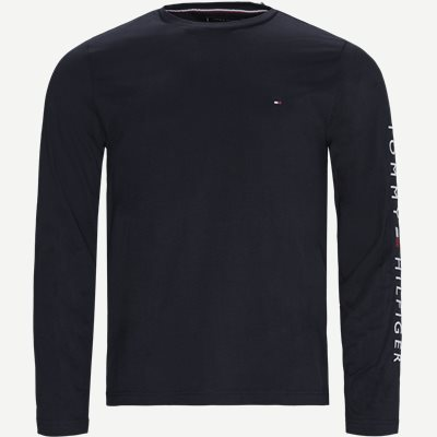Tommy Logo Long Sleeve T-shirt Regular | Tommy Logo Long Sleeve T-shirt | Blå