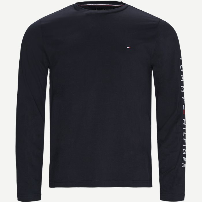 Tommy Logo Long Sleeve T-shirt - T-shirts - Regular - Blå