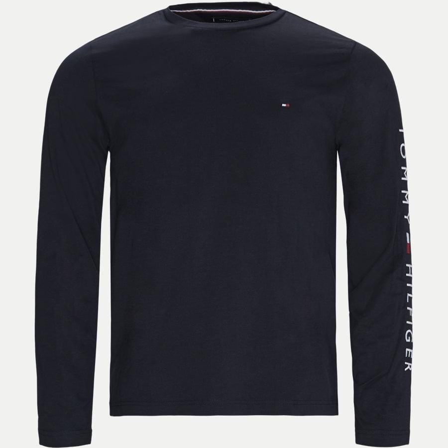 12514 TOMMY LOGO LONG SLEEVE - Tommy Logo Long Sleeve T-shirt - T-shirts - Regular - NAVY - 1