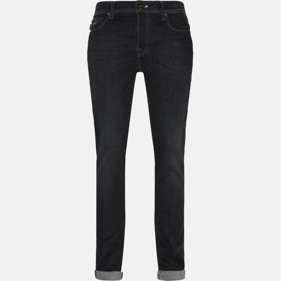 LEONARDO DENIM CASHMERE - Jeans - Regular fit - GREY/BLACK - 1